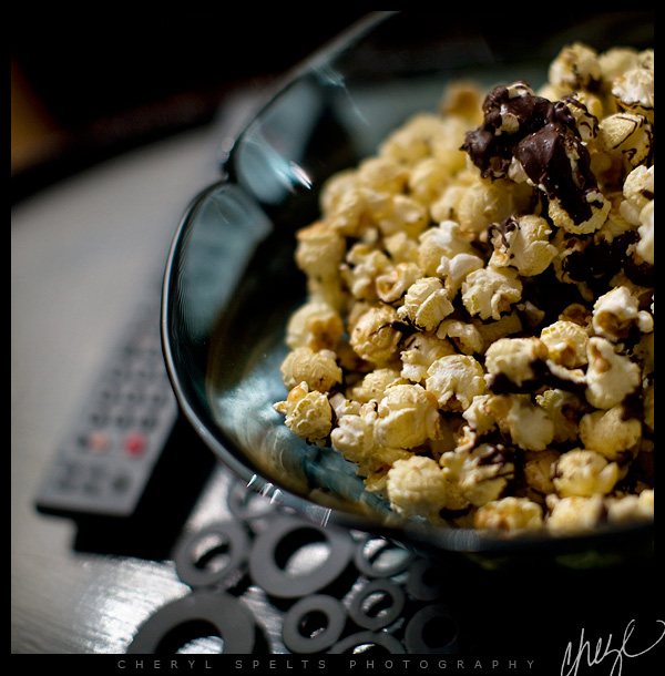 Kettle Corn dribbled with Dark Chocolate