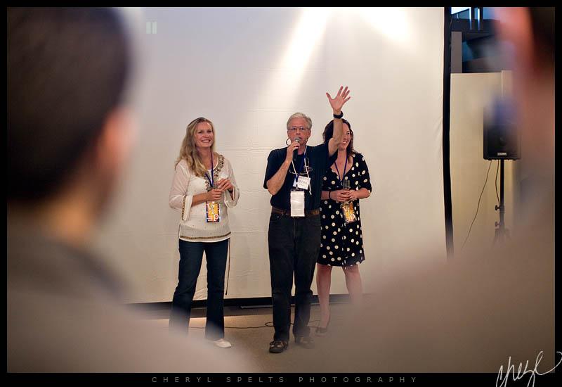Linda Mandrayer, Ronald Shattuck, and Brigitte Schlemmer