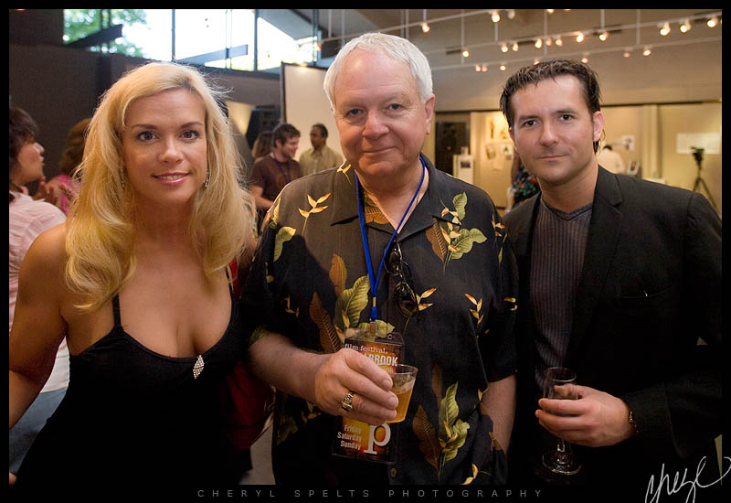 Chase Masterson, Tom Del Ruth, and James Kerwin