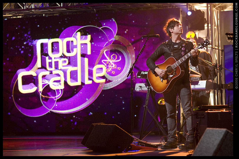 Rafael Moreira on the set of MTV's Rock The Cradle