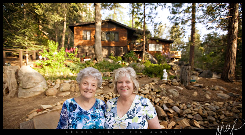 Grandma and Mom in Idyllwild