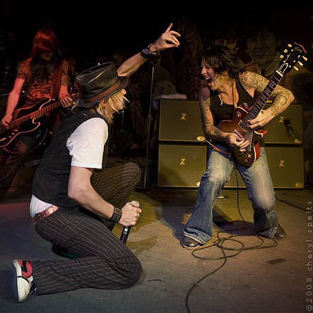 Marty Casey and Tracii Guns