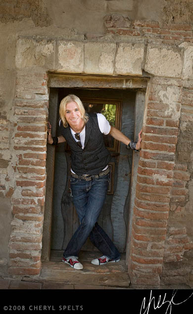 Marty Casey at the Mission San Juan Capistrano // Photo: Cheryl Spelts