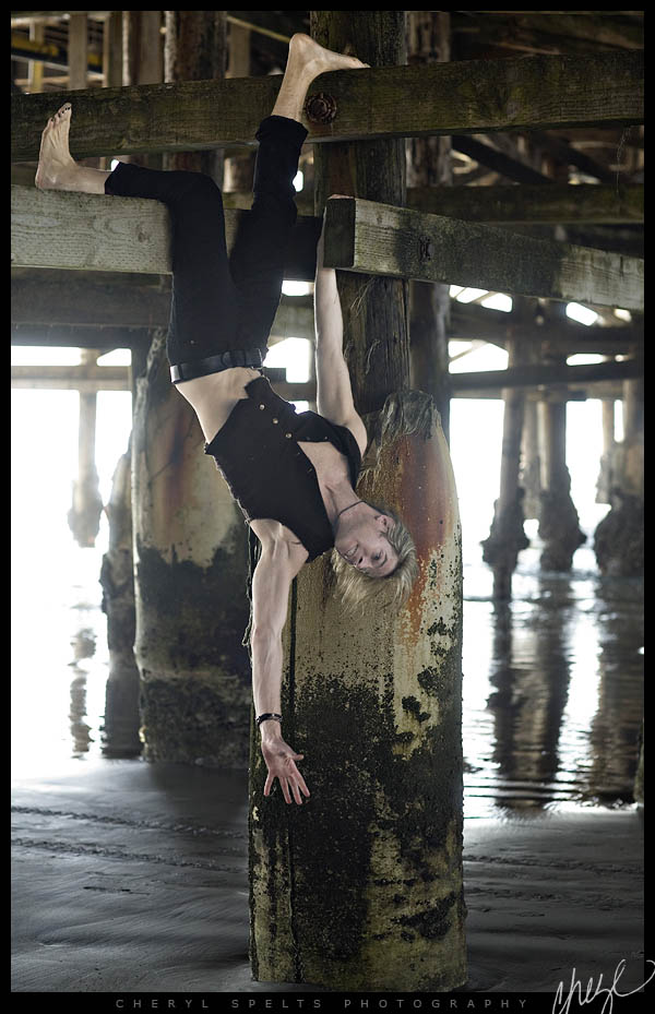 Marty Casey under the Crystal Pier // Photo: Cheryl Spelts