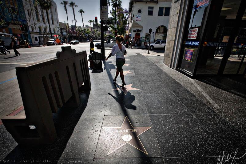 Ruth Etting's Star on Hollywood Boulevard // Photo: Cheryl Spelts