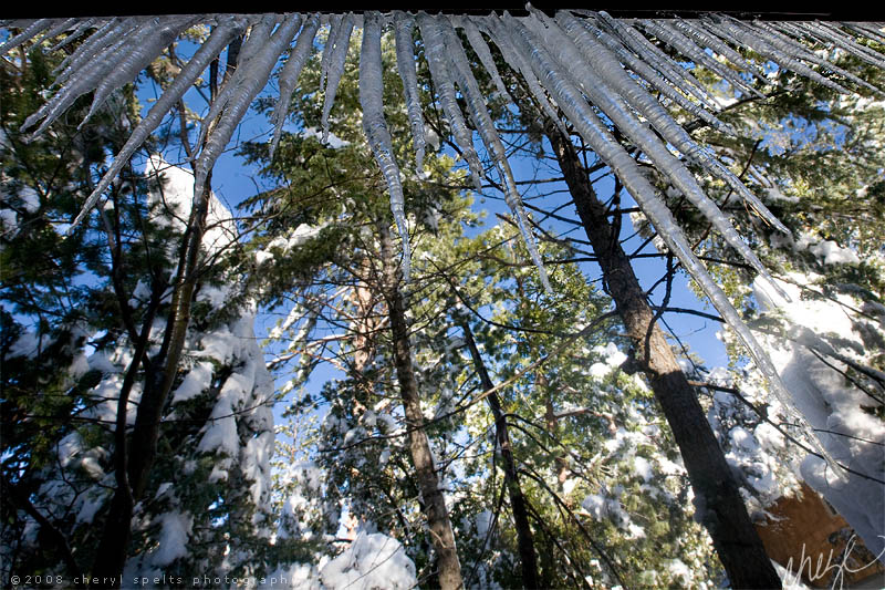 Icicles in Idyllwild // Photo: Cheryl Spelts
