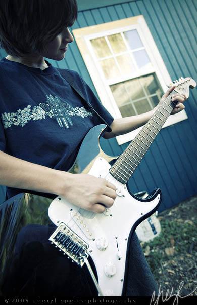 Josh with his Guitar // Photo: Cheryl Spelts