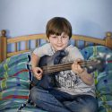 Nathan with his Bass Guitar