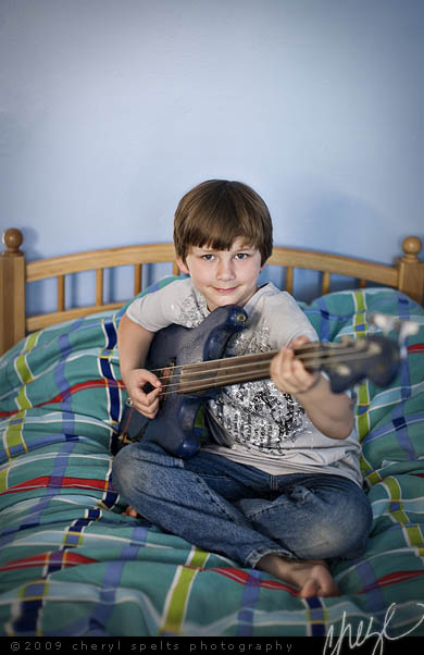 Nathan with his Bass // Photo: Cheryl Spelts