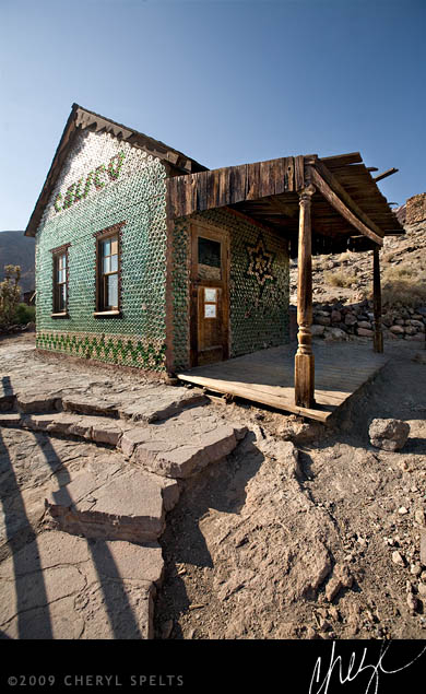 Calico Ghost Town Bottle House // Photo: Cheryl Spelts