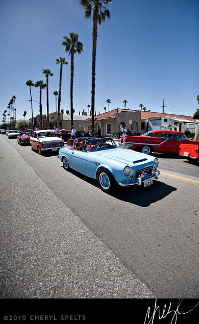 "Car enthusiasts in Riverside host a big car show called ""Show and Go"" in the downtown area."