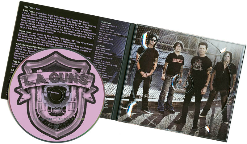 LA Guns' Shrinking Violet Reissue CD Cover // Photo: Cheryl Spelts