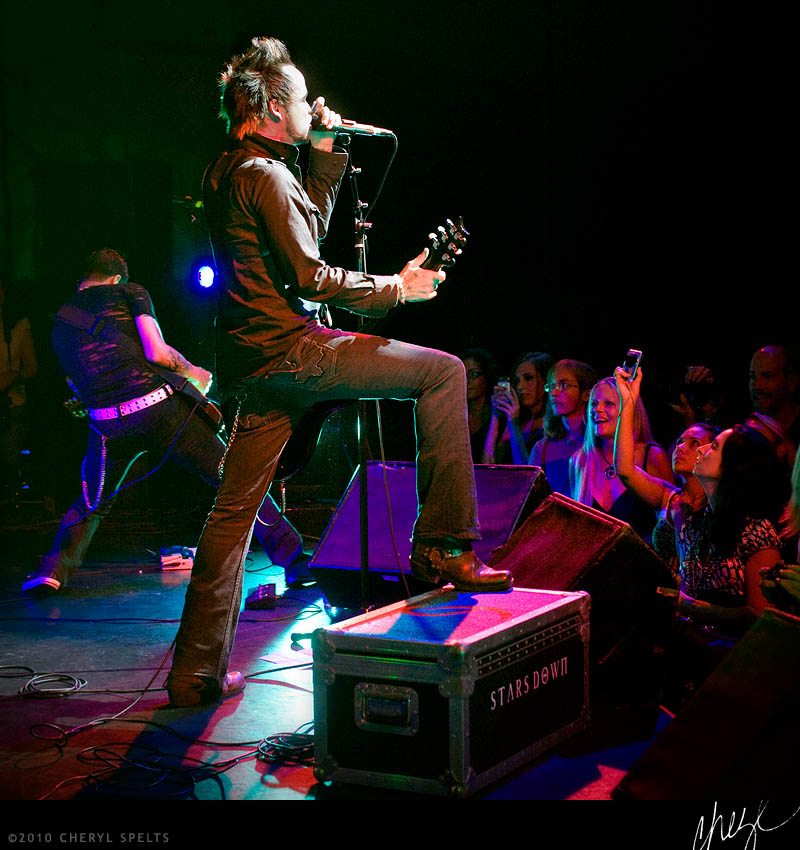 Lukas Rossi and Stars Down at The Galaxy Theater in Santa Ana, California.