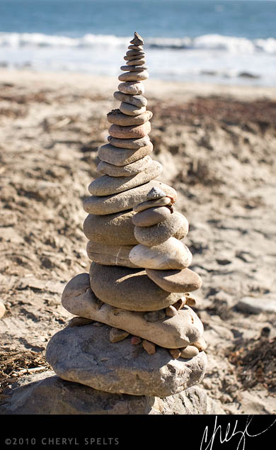 Cairn in Malibu // Photo: Cheryl Spelts