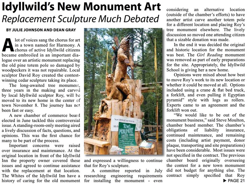 Idyllwild Monument in the Desert Valley Star