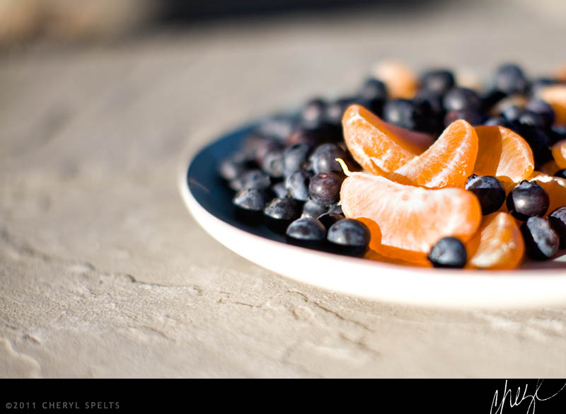Tangerines and Blueberries