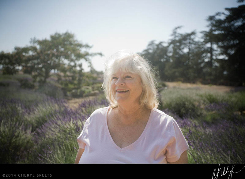 Mom in the Lavender Fields