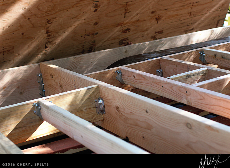 Framing the foundation of a Tiny House // Photo: Cheryl Spelts