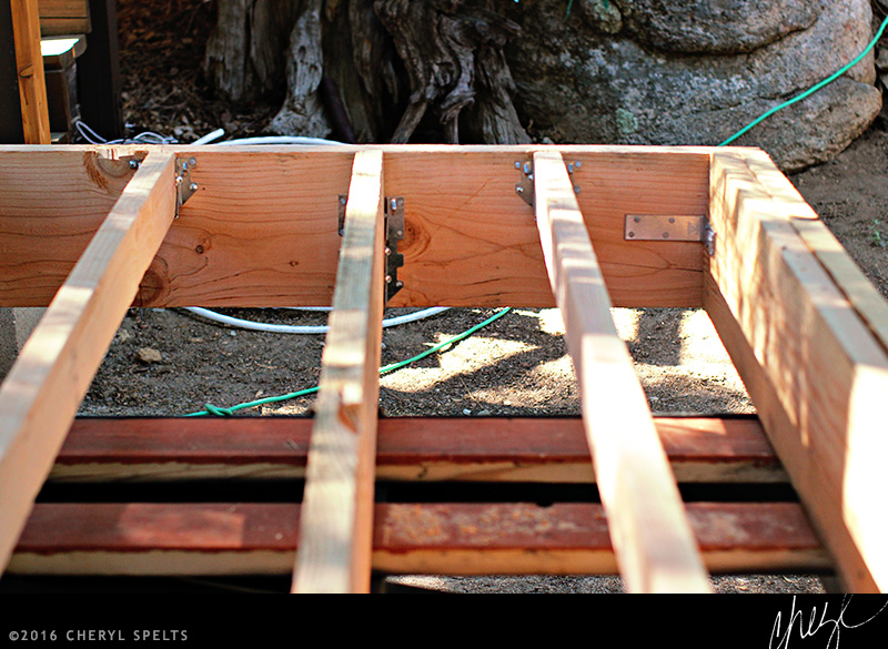 Framing the Foundation of a Wide Tiny House // Photo: Cheryl Spelts
